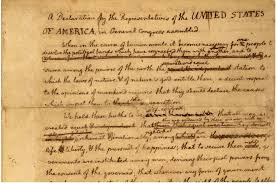 testing the waters american independence thomas jefferson s notes that would become the declaration of independence
