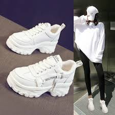 <b>2019 Platform Women Sneakers</b> Fashion Thick Bottom Casual ...