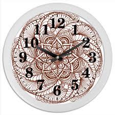 <b>Часы круглые из</b> пластика Индийский цветок #2582211 от ...