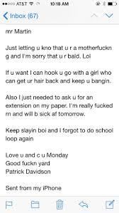 this professor had the best response to an e mail from a drunk an english major obviously via ur