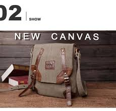 Men's <b>Canvas Bags Vintage</b> Male Leather <b>Handbag</b> Men <b>Shoulder</b> ...