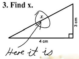 Find X. Here it is.