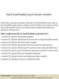 top  head football coach resume samplestop  head football coach resume samples in this file  you can ref resume materials