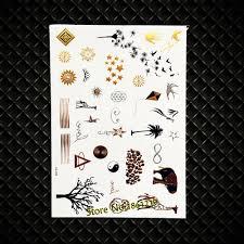 Hot Leopard Print Gold Flash Tattoo Tai <b>Chi</b> Pattern <b>Animal Giraffe</b> ...