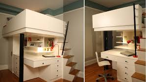 for the adults bedrooms become home offices and vice versa bed with office underneath