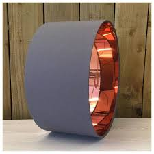 Grey & Mirror Copper Drum Lampshade Lightshade 20cm 25cm ...
