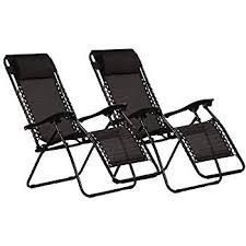 Set of <b>2 Folding</b> & <b>Reclining Deck Chairs</b> Conservatory garden mile ...