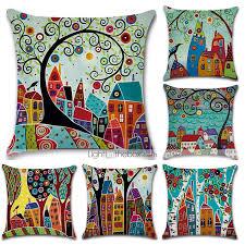 <b>Hot Sale</b> Pillowcase Linen <b>Cotton</b> Sofa Cushion Cover Case Car ...
