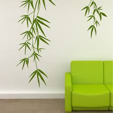 Bamboo Leaves - Removable Vinyl <b>Wall Decals</b> - <b>Wall Stickers</b> ...