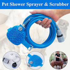 <b>Multifunctional Pet Bathing</b> Tool Shower Sprayer & Scrubber 2in1 ...
