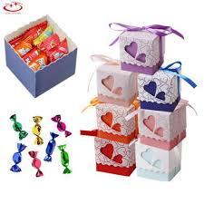 <b>10Pcs</b> Stylish Love Heart <b>Candy</b> Wedding Favor Gift Boxes With ...