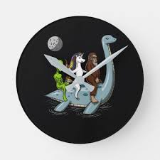 Conspiracy <b>Bigfoot</b> Loch Ness Monster <b>Water Ski</b> Round Clock ...