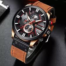 <b>CURREN 8329 Fashion Mens</b> watch leather luxury brand