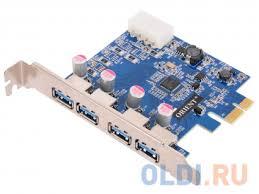 <b>Контроллер ORIENT</b> NC-3U4PE, <b>PCI</b>-<b>E</b> USB 3.0 4ext port, NEC ...
