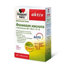 Витамины <b>Доппельгерц</b>® <b>актив Фолиевая кислота</b> + Витамины ...