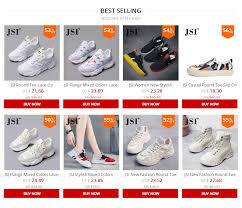 <b>JSI</b> New <b>Fashion</b> Round Toe Lace Up <b>Women Sneakers</b> Casual ...