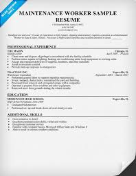 Maintenance Worker Resume Sample | Resume Companion Maintenance Worker Resume Sample (Image)