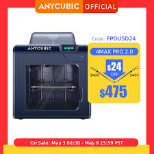 New 3D Printer <b>ANYCUBIC 4Max Pro 2.0</b> DIY FDM 3D Printer with ...