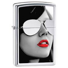 <b>Зажигалка Zippo</b> 28274 BS <b>Sunglasses High</b> Polish Chrome ...