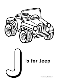 Small Picture Letter J coloring page alphabet coloring pages alphabet