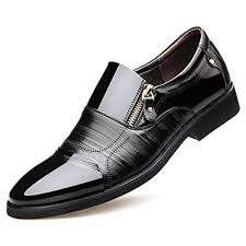 Poplover Men's <b>Pointed Toe Dress Shoes</b> Business Casual Oxford ...