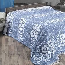"<b>Плед KARNA хлопок</b> ""DECO"" 220x240 см голубой"