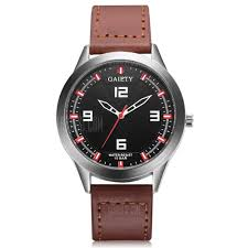 GAIETY G540 Men's Casual <b>PU Leather</b> Band Wrist Watch - $2.86 ...