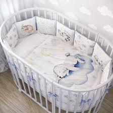 Комплекты в круглую и овальную кроватку