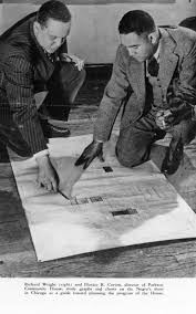 brian dolinar in this photo horace cayton and richard wright observe a map of the south side