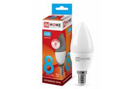 <b>Лампа</b> светодиодная IN <b>HOME LED</b>-<b>СВЕЧА</b>-<b>VC</b> 8Вт 230В Е14 ...