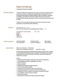 cv examples  templates  creative   able  fully    graduate financial analyst cv example click to see the pdf version