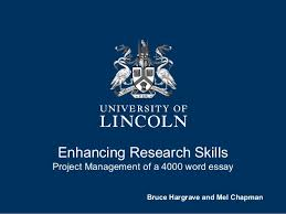 project management of a  word essay enhancing research skills project management of a  word essay bruce hargrave and mel chapman