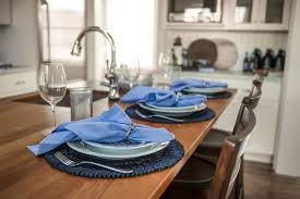 dining table generations blue ladder back stool trio dh kitchen blue place settings island hjpgrendh