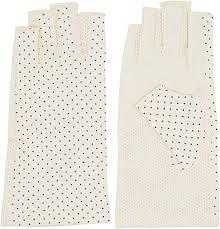 <b>Women</b> Dots Sun <b>Uv Protection</b> Outdoor <b>Cotton</b> Driving Gloves