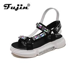 <b>Fujin Brand 2019</b> spring <b>summer</b> and autumn slopes and open toe ...