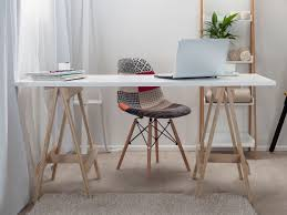 small home office decorating ideas white trestle office desk add wishlist middot baumhaus mobel