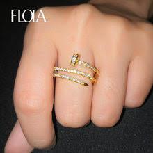 gold nail ring