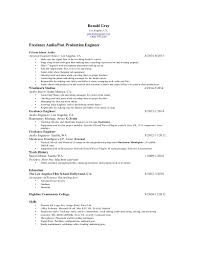 audio engineer resumes   zaqio fresh from the captain    s resumeronad gray audio post resume