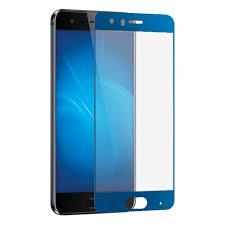 Закаленное <b>стекло DF</b> fullscreen для Huawei Honor 9 синяя рамка ...