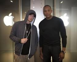 dr dre and eminem at apple office beats by dre office