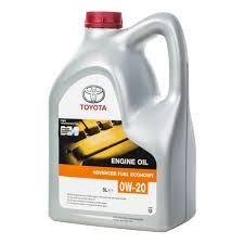 <b>Моторное масло TOYOTA Engine Oil</b> 0W-20 5 л — купить в ...
