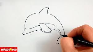 Как Нарисовать Дельфина поэтапно, просто и быстро - YouTube