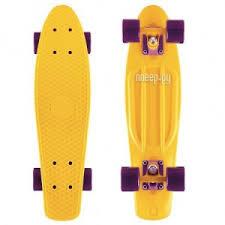 <b>Скейт</b> Y-Scoo Fishskateboard 22 Yellow-Dark Purple 401-Y
