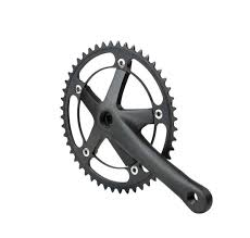 dead412 bike crankset aluminum alloy crank chain wheel cnc racing hole hollow retro single speed 48t gear