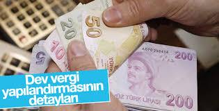 Vergi yapılandırmasında ilk iki taksiti ödeme şartı