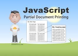 Partial Print Document JavaScript Tutorial HTML div Content ...