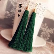 <b>Серьги</b> Aliexpress Кисти Momoko black <b>vintage tassel</b> earrings long ...