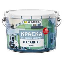 <b>Краска фасадная Лакра</b> всесезонная, белая, 14 кг - купите по ...