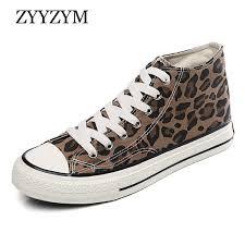 <b>ZYYZYM Men Canvas</b> Shoes Leopard <b>High</b> Lace Up Style Fashion ...