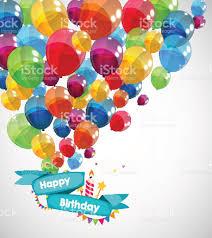 happy birthday card template balloons vector illustration 1 credit